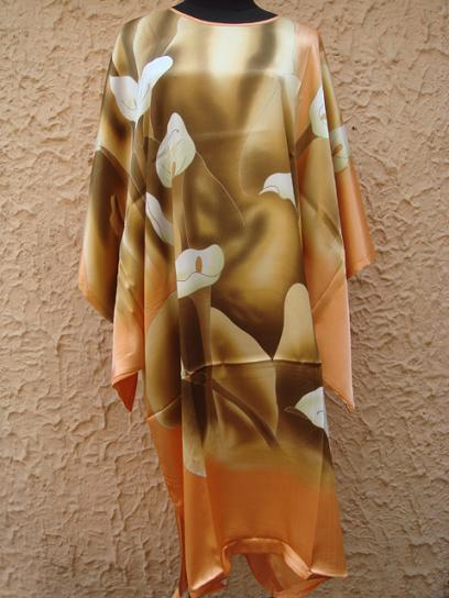 Fashion New Orange Ladies' Silk Rayon Robe Bath Gown Yukata Nightgown One Size Free Shipping S4015(China (Mainland))