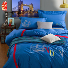 2015 Brand modern 100% cotton bedding sets queen king size bed duvet/comforter cover bed clothes 4pc bed sets Free shipping(China (Mainland))