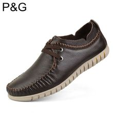 100% GENUINE LEATHER MEN SHOES- plus size breathable Casual Driving shoes,fashion handmade business moccasin Soft Loafers(China (Mainland))