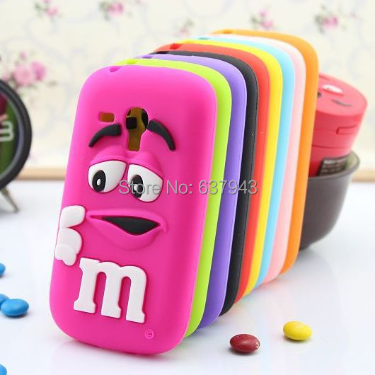 3D MMS candy rubber case for samsung galaxy s3 mini mobile phone back defender cases cover for samsung galaxy s3 mini i8190(China (Mainland))