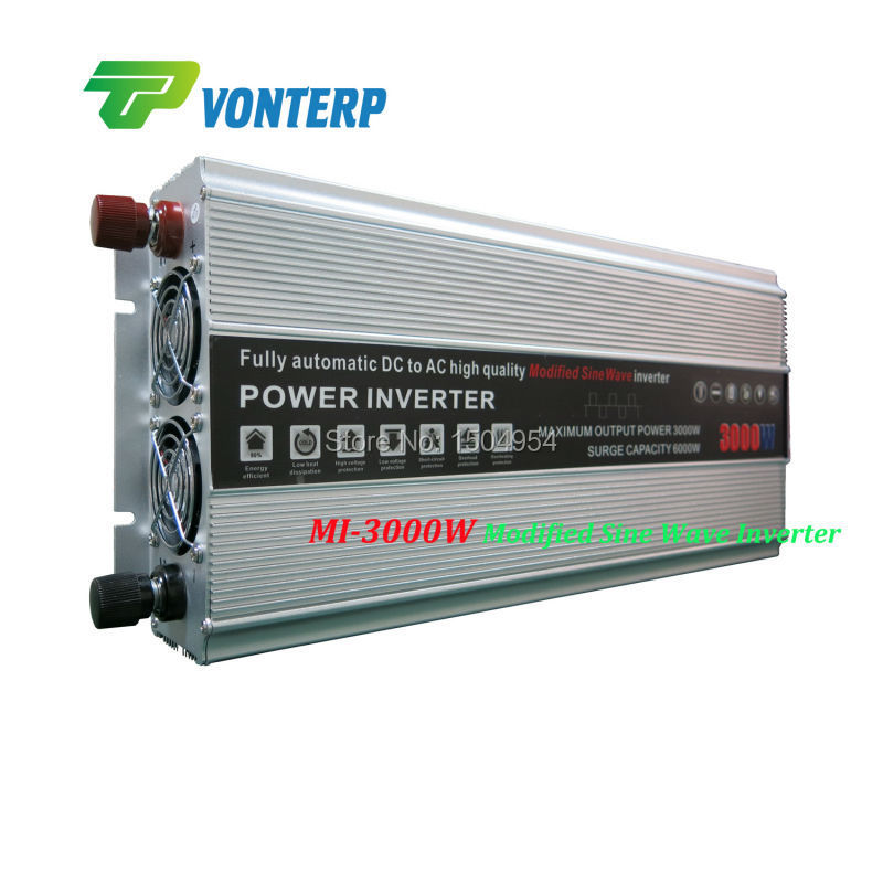 3000W 3KW modified sine wave DC to AC inverter charger  off grid inverter surge power 6000W 6KW inverter<br><br>Aliexpress