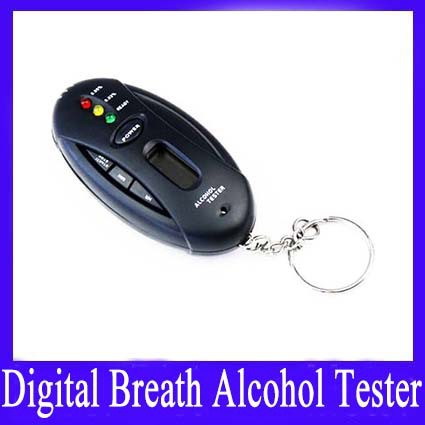 Free shipping Breath Alcohol Tester With Timer (black) Alcohol test with short ready time quick response MOQ=1(China (Mainland))