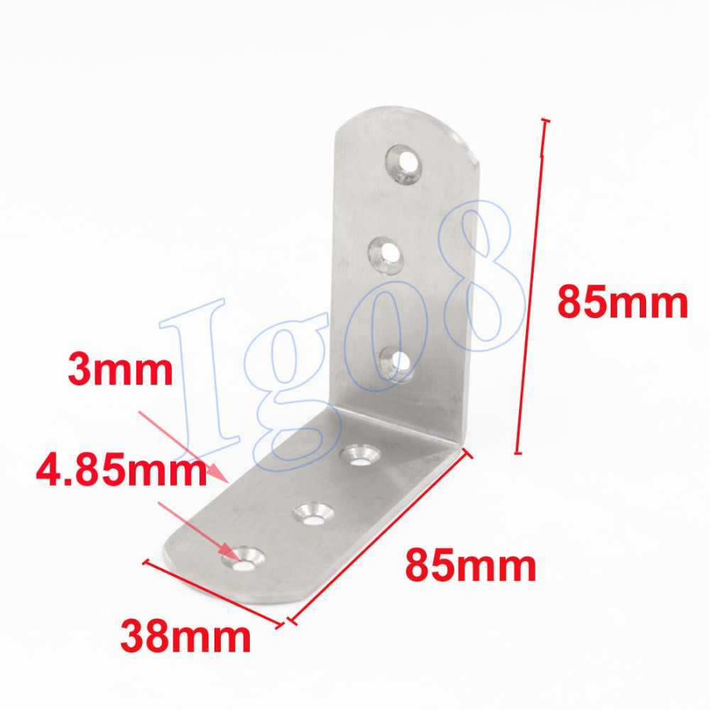 2pcs Discount Price Stainless Steel Angle Bracket 85mm(China (Mainland))
