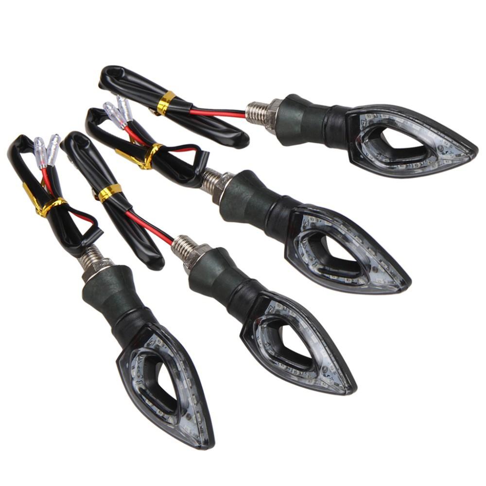 HOT 4 x Universal 12V 1.3W 12 LED Motorcycle/Motorbike Turn Signal Indicators Blinker Amber Light Lamp Bulb for Honda Yamaha Etc(China (Mainland))