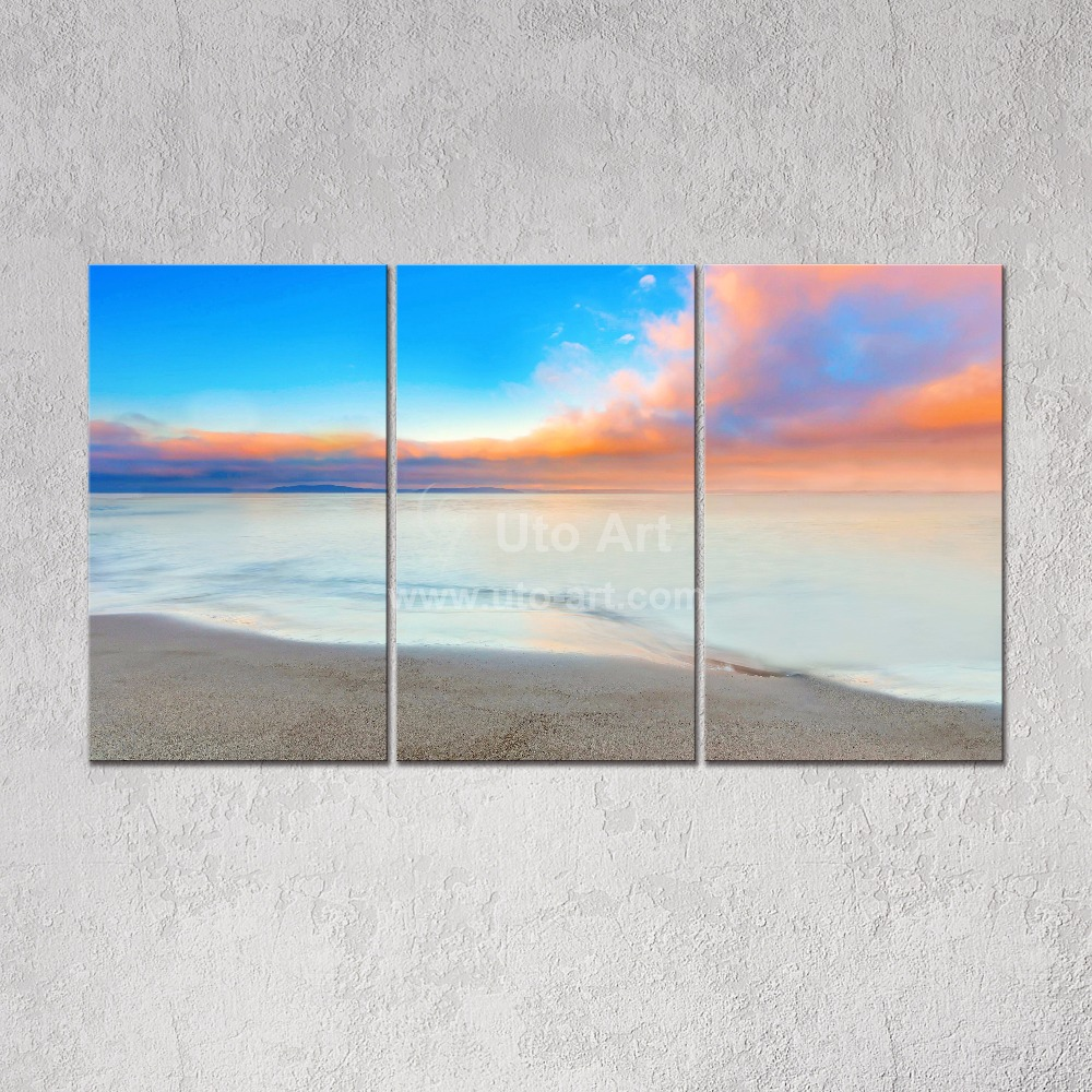 Modern 3 panel wall art prints paintings landscaping with for 3 panel wall art
