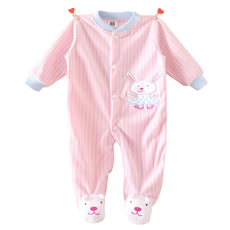 One Piece Autumn Winter Baby Rompers Jumpsuit Comfortable Clothes For New Born Babies 0-12M Baby Wear Newborn Baby Romper Infant(China (Mainland))