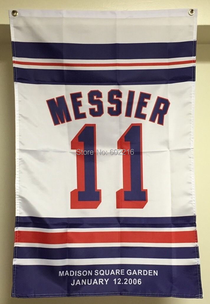 Mark Messier New York Rangers Retirement Banner Flag #11 3FTX 5FT(China (Mainland))