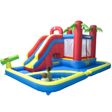 New Children Water Park Giant Inflatable Games Inflatable Water Slide Area To Play And Ball Pool(China (Mainland))