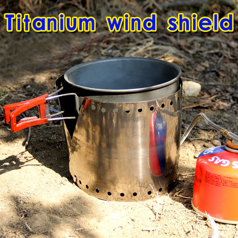 Rover Camel Ultralight Camping Stove Titanium Wind Shield Wind Screen Titanium Windproof Barge-board Windproof Plate 16.2g(China (Mainland))