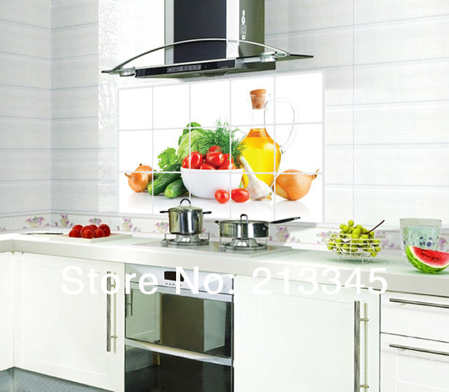 Kitchen Tiles Fruits Vegetables: -Saturday-Monopoly-kitchen-oil-stickers-removable