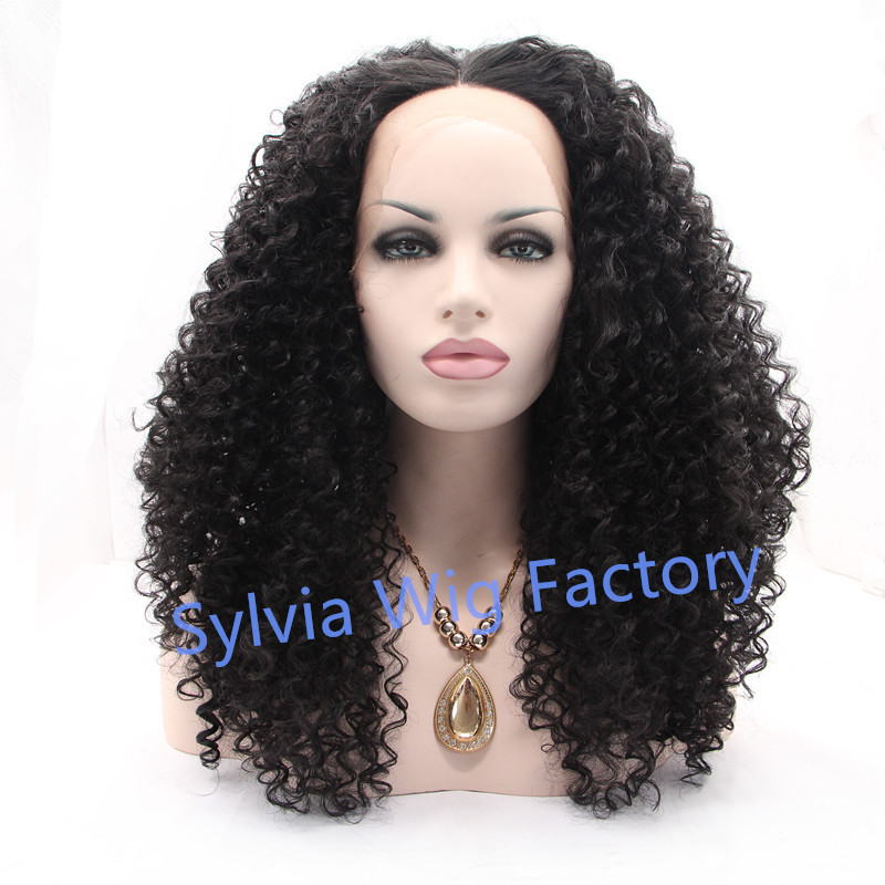 good quality brazilian hair kinky curly wigs synthetic wig lace front wig heat resistant Synthetic Hair brazilian hair free ship