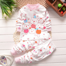 [Hip Hop] Cut New Fashion Underwear Tees+Pant Set Cotton Animal Print Suit For Baby Children Boy and Girl  Free Shipping #0113-2