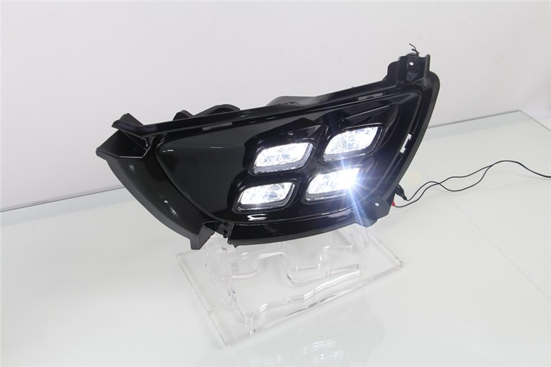 A&T car styling For Kia Sportage R LED DRL For Sportage R led fog lamps daytime running light High brightness guide LED DRL