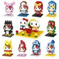 Hello kitty Action Figures Toys hellokitty Mini Model Diamond DIY 3D Bricks Education Toy Child gift