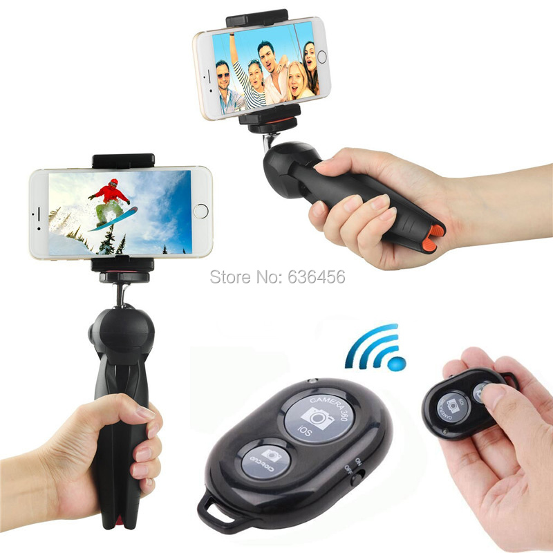 With Wireless Bluetooh Shutter Holder Mini Tripod For Portable <font><b>DSLR</b></font> Digital Cameras ,Camcorder/For All iPhone /For <font><b>Samsung</b></font> S6