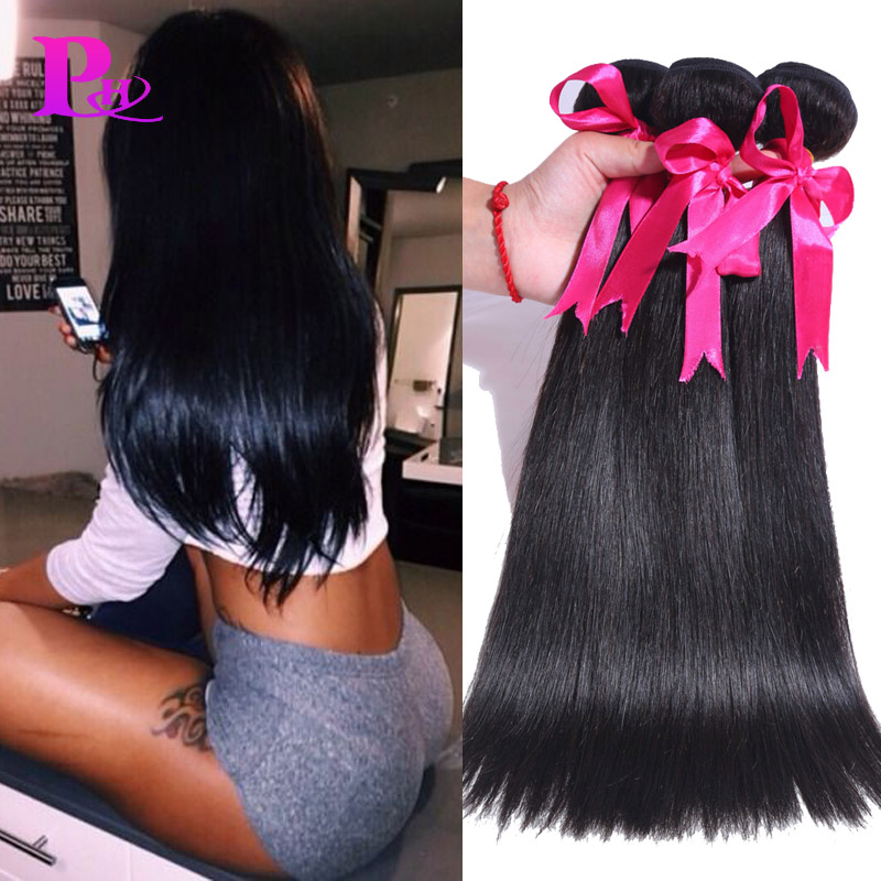 8A Filipino Virgin Hair Straight 3pcs/lot Virgin Straight Hair Cheap Human Hair Weave Virgin Filipino Straight Hair Extensions