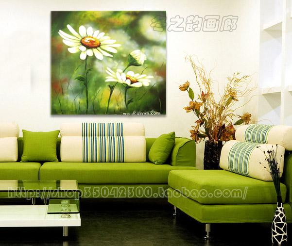 Pure hand-painted oil painting fashion home decorations modern minimalist frameless painting the living room entrance floral