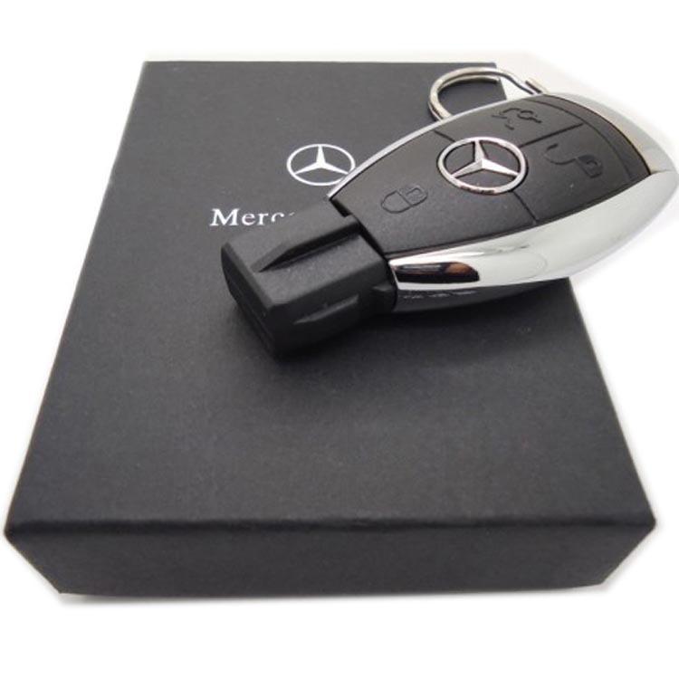 Wholesale Creative Mercedes Benz Key USB Flash Drive 8GB 16GB 32GB Metal Car Key Shape Pen Drive Card Cartoon USB Memory Stick(China (Mainland))