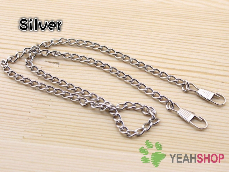 Silver Color Bag Chain / Purse Chain - 40cm / 16 inch (BC8) - 10 PCS(China (Mainland))