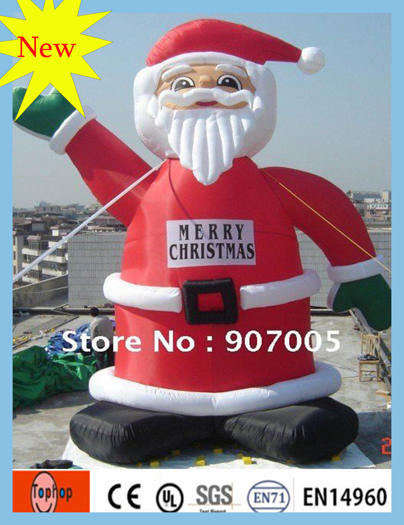 Free Shipping Cartoon Type 4MH 13FT Christmas Inflatable Cartoon Santa Claus Toys with Factory Price for Sale(China (Mainland))