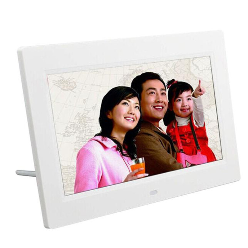 7inch HD LCD Digital Photo Frame with Alarm Clock Slideshow MP3/4 Player gift wholesale(China (Mainland))