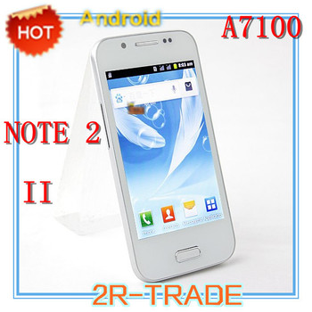 Cheap N7100 note 2 II A7100 Smart Phone SC6820 1.0GHz S7100 Android 2.3 WiFi FM 4.0 Inch Capacitive Touch Screen