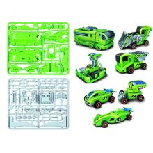 7-in-1 Rechargeable Innovative Solar Car Kit Station Science Educational Kit for Kids Children(China (Mainland))