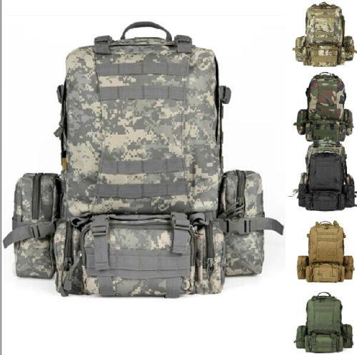 55L альпинизма рюкзак походы отдых на природе открытый военный тактический рюкзак ...