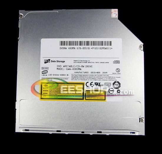 Best for MacBook Pro SuperDrive GWA-4080M 9.5mm Super Slim 8X DVD RW DL RAM Burner 24X CD-R Writer Laptop IDE PATA Optical Drive(Hong Kong)