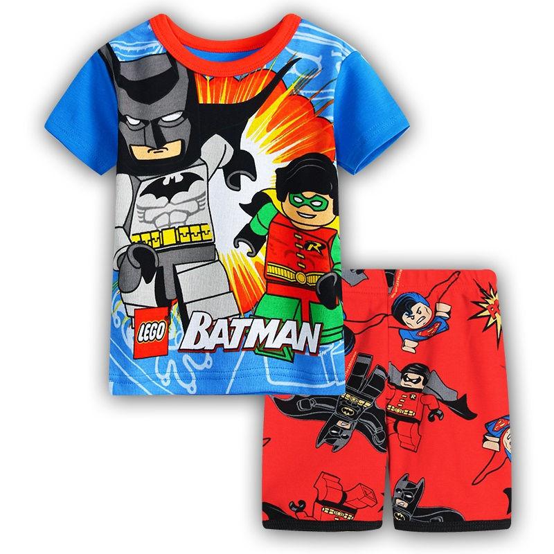 Children Clothing Sets Kids Summer Pajamas Baby Girls Cartoon Descipable me Pijamas Boys Spiderman BatMan Pyjamas Sleepwear(China (Mainland))