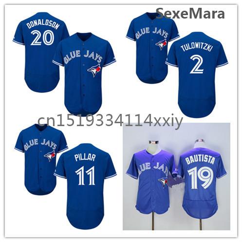 2016 Mens Flexbase Version 20 Josh Donaldson 11 Kevin Pillar 2 Troy Tulowitzki Jose Bautista Jersey Red Blue Gray White Jerseys(China (Mainland))