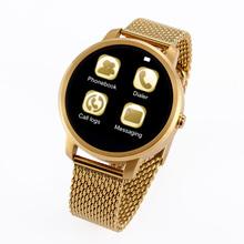 Роскошные нержавеющей стали умные часы пульт дистанционного управления Smartwatch для IOS система часы