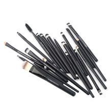 Stock Clearance !!! 20Pcs Print Logo Makeup Brushes Professional Cosmetic Make Up Brush Set The Best Quality!(China (Mainland))