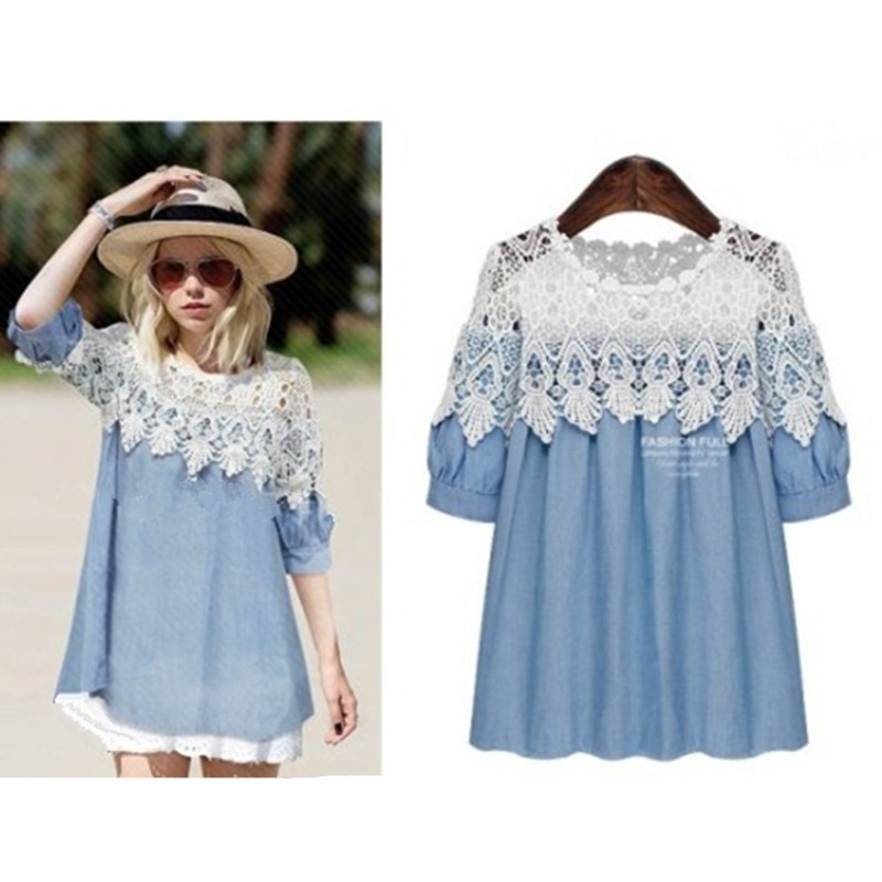 Lace Hollow Out Women Dress 5XL Fashion Ropa Mujer Summer Mujer Elegant Ladies Casual Dresses Casual European Style Clothing(China (Mainland))