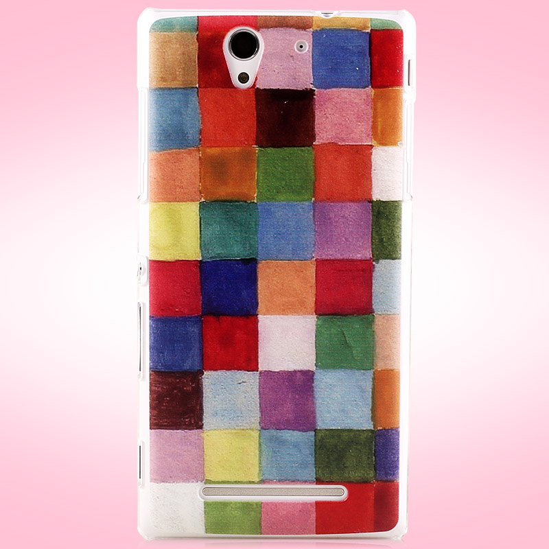 Brief brand Painted hard case cover For Sony Xperia C3 D2533 C3 Dual D2502 S55T S55u phone case colored drawing ultra-thin cases(China (Mainland))