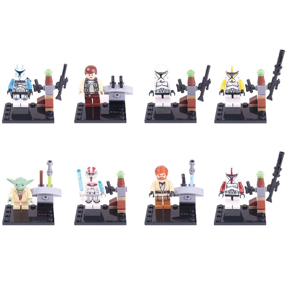 8pcs/lot Star War Kid Mace Windu Baby Toy Mini Figure Building Blocks Sets Model Toys Minifigures Brick(China (Mainland))
