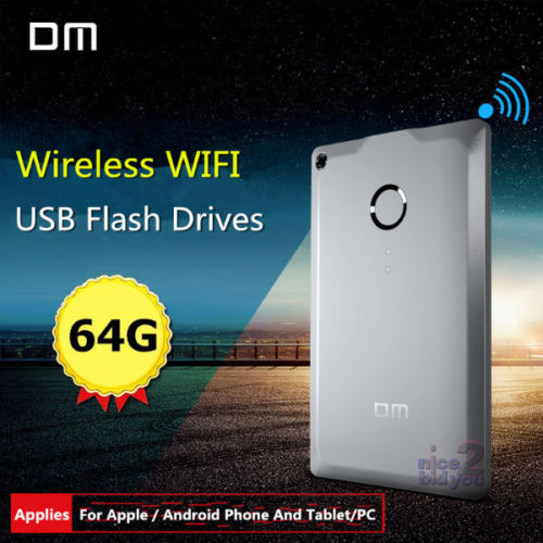 DM WFD009 Wireless USB Flash Drives 32GB 64GB WIFI For iPhone / Android / PC Smartphones(China (Mainland))