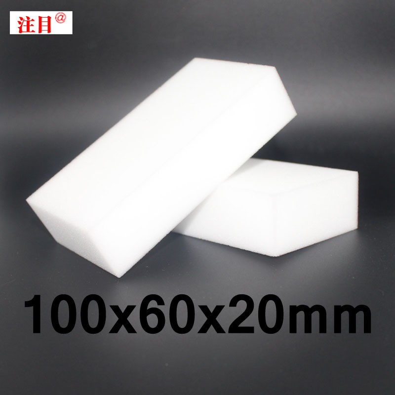 100 pcs/lot Wholesale White Magic Sponge Eraser Melamine Cleaner,multi-functional Cleaning 100x60x20mm Free Shipping(China (Mainland))