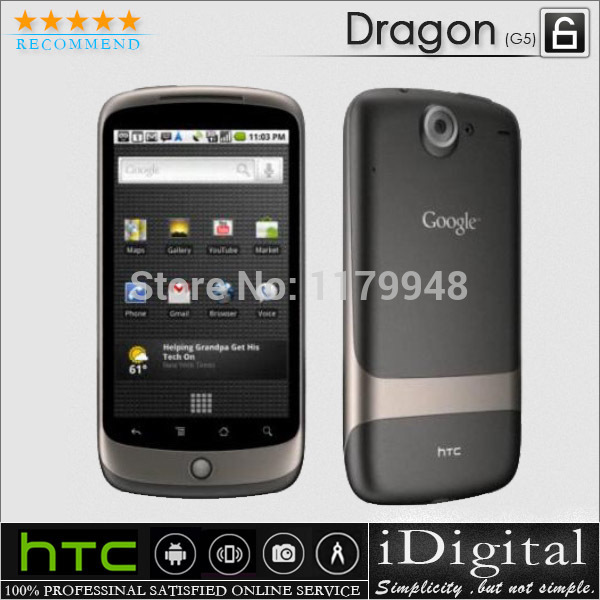 "100% Original HTC Google Nexus One G5 Dragon Cell Phone Unlocked WIFI GPS Android OS 3.7"" Screen 5MP 3G Factory Refurbished(China (Mainland))"