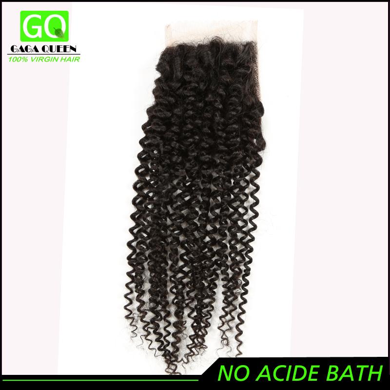 6A Malaysian Curly Hair Silk Closure 4x4 Swiss Lace Closure Free /Middle /3 Way Lace Top Closure Vip Beauty Hair Malaysian Curly(China (Mainland))