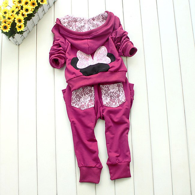 Retail new 2013 hot sale children clothing hoody cotton high quality sports sets cartoon MINNIE children suits