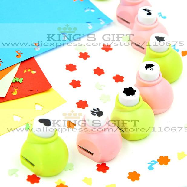 10pcs/Lot  Retail Packing  Mini Craft Punch For Scrapbook Handmade, DIY Card, DIY Punch Kids Toys Hobblies  Free Shipping