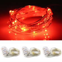 3pcs 6.7Ft / 10ft Chrismas decorative Button Cell Powered 2/ 3mLED strip Fairy Lights Cool Warm White LEDs led neon Silver Wire(China (Mainland))