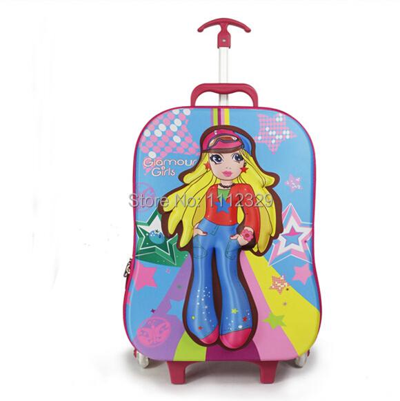3D EVA Kids trolley bags cartoon design luggage school BAG 13 - Merry Weather Store store