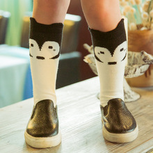 1pair free shipping retail or wholesale cartoon socks kids 100% cotton kid socks children