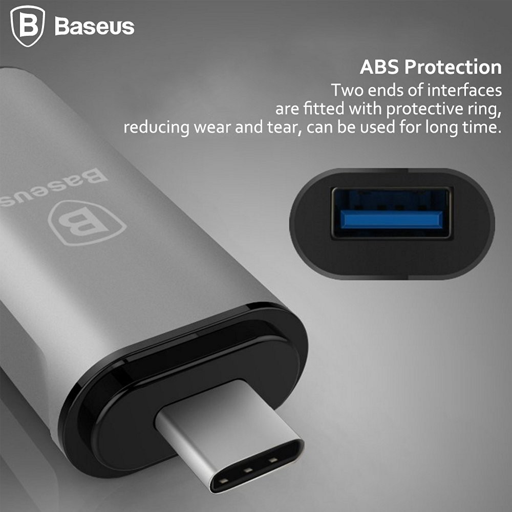 Original Baseus Type-C HUB Adapter USB C Type C to USB 3.O HUB Cable Converter Multi-function Charging Date Sync For New Macbook