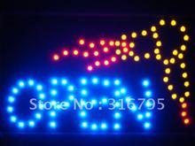 led061-b OPEN Hair Cut Salon Dryer LED Neon Sign WhiteBoard(China (Mainland))