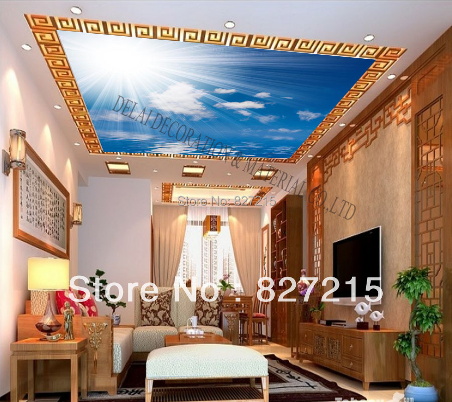 S--5223 /Print Ceiling tiles /PVC Stretched Ceiling Film/Home or Ceiling Decoration/Function as Ceiling Panel(China (Mainland))