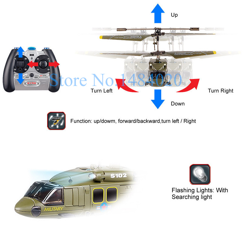 Genuine Syma S102G 3Channel Infrared Radio Controlled Apache Military Design Electric Helicopter For Beginner(China (Mainland))