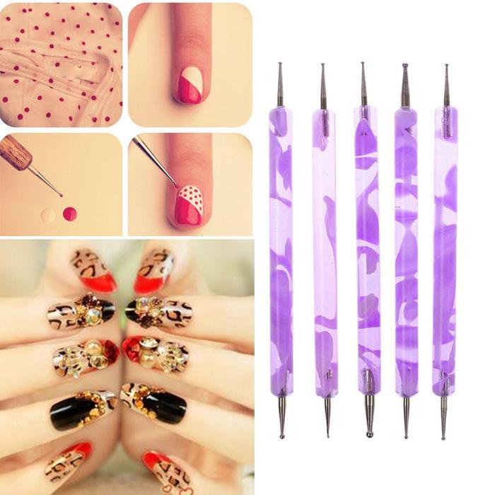 Кисточка для ногтей 2 DIY 2 1Set Dotting 4915 кисточка для ногтей yifu store 1 2ways diy nao10